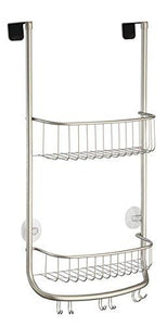 InterDesign Forma Bathroom Over Door Shower Caddy for Shampoo, Conditioner, Soap