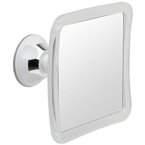 Mirrorvana Fogless Shower Mirror with Lock Suction-Cup, 6.3 x 6.3 Inch