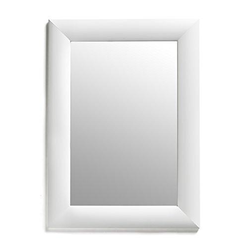 White Rectangular Framed Wall Mirror, 19x26-Inch - zingydecor