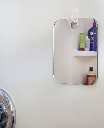 Deluxe Shave Well Fog-free Shower Mirror - Made in the USA - 33% larger than the Original...