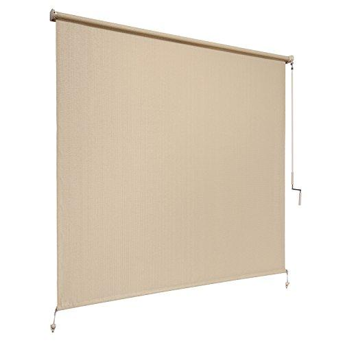 Coolaroo Outdoor Cordless Roller Shade 8ft by 6ft Sesame