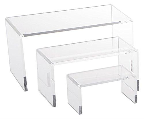 Clear Acrylic Riser Set Small Showcase for Jewelry - zingydecor