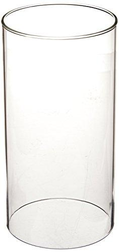 WGV Clear Glass Hurricane Candle Holder Vase, 8-Inch - zingydecor
