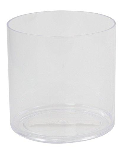 Flower Acrylic Vase Decorative Centerpiece For Home or Wedding by Royal Imports - Break Resistant - Cylinder Shape, 6