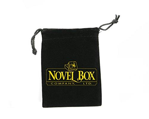 "Novel Box MADE IN USA Jewelry Gift Box in Black Kraft With Removable Cotton Pad 2.5X1.8X1"" (Pack of 25) + Custom NB Pouch"