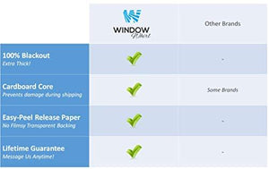 Total Blackout Window Film: 100% Light Blocking, Room Darkening Static Cling - No Residue Film for Privacy, Home Security, and Day Sleep - Easy Removal UV Prevention Treatment (17.5 x 80 inches)