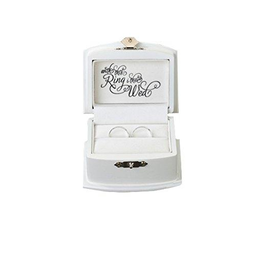 Lillian Rose Rustic Wood Wedding Ring Bearer Alternative Box