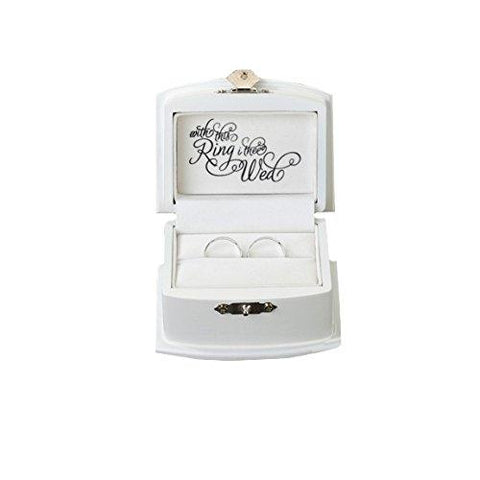 Image of Lillian Rose Rustic Wood Wedding Ring Bearer Alternative Box