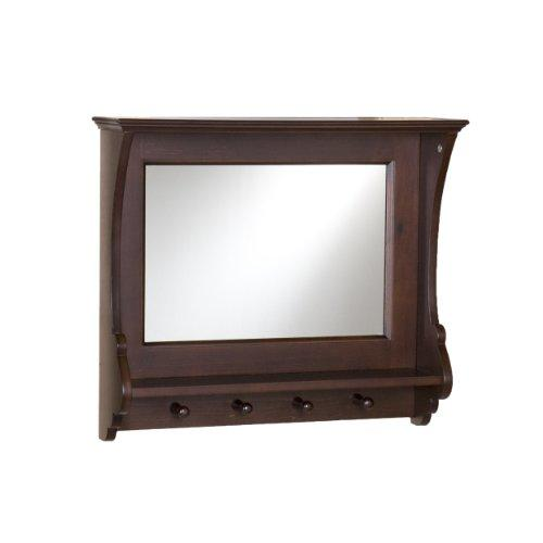 Southern Enterprises Chelmsford Entryway Wall Mount Mirror, Espresso Finish - zingydecor