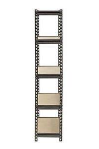"Muscle Rack UR301260PB5P-SV Silver Vein Steel Storage Rack, 5 Adjustable Shelves, 4000 lb. Capacity, 60"" Height x 30"" Width x 12"" Depth"