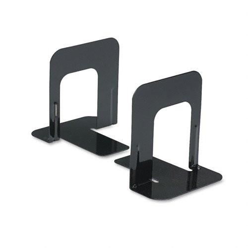 Economy Bookends, Standard, 4 3/4 x 5 1/4 x 5, Heavy Gauge Steel, Black - Sold as 2 Packs of - 2 - / - Total of 4 Each will be received