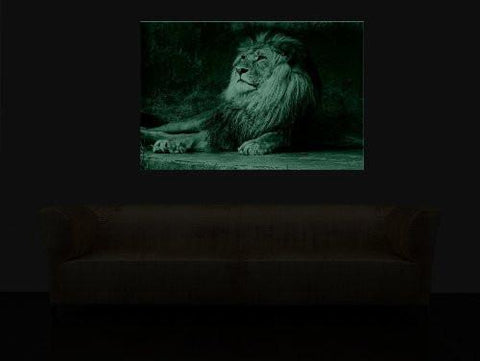 Startonight Canvas Wall Art Lion King, Animals USA Design for Home Decor, Dual View Surprise Artwork Modern Framed Ready to Hang Wall Art 31.5 X 47.2 Inch 100% Original Art Painting!