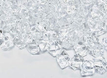 "Load image into Gallery viewer, 350 Pieces Acrylic Clear Ice Rock Gems for Vase Fillers, Table Scatter, Event, Wedding, Photography Props, Arts & Crafts. T.W. NOVELTY (350, 0.75"" long) - zingydecor"