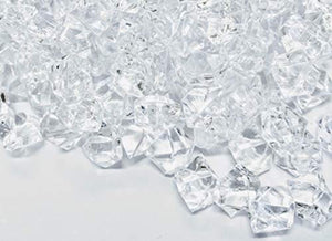 "350 Pieces Acrylic Clear Ice Rock Gems for Vase Fillers, Table Scatter, Event, Wedding, Photography Props, Arts & Crafts. T.W. NOVELTY (350, 0.75"" long) - zingydecor"