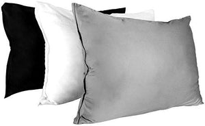 Cotton Sateen Zippered Pillow Cases - 2 Pack (Queen, White) - Sateen Pillow Cover for Maximum Softness - Easy Care, Elegant Double Hemmed Stitched Pillow Encasement, 300 Thread Count by Utopia Bedding - zingydecor