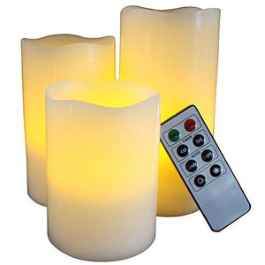 BEST FLAMELESS CANDLES WITH TIMER REMOTE CONTROL, Unscented Flickering Battery Operated Electric Candle for Home Decor, Weddings, Parties and Awesome Gifts - zingydecor