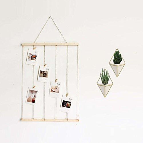 Hanging Container Handcrafted Wall Vases Geometric Wall