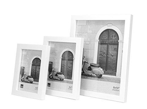 Kiera Grace Contempo Wood Picture Frame, 8 by 10 Inch, White