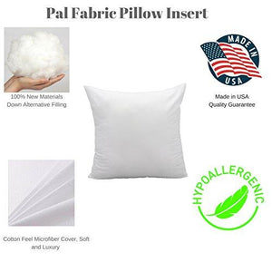 "Premium Cotton Feel MicroFiber Square Sham Pillow Insert 18""x18"" Made in USA- Machine Washable - zingydecor"