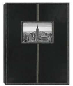 Pioneer Photo Albums 5PS-300 300-Pocket Sewn Leatherette Frame Cover Photo Album, Black - zingydecor
