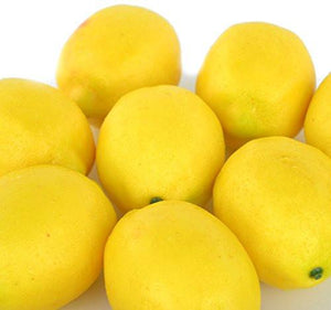 Fake Fruit Home House Kitchen Party Decoration Artificial Lifelike Simulation Yellow Lemon 10pcs Set