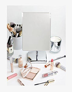 Mirrorvana  Rectangular Glass Surface 9.8 inch x 7 inch Non- Magnifying Vanity Mirror - zingydecor