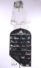 Load image into Gallery viewer, Misslo Jewelry Hanging Non-Woven Organizer Holder 32 Pockets 18 Hook and Loops - zingydecor