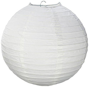 "Electronix Express 78BW2406004 12"" White Paper Lantern Lamp Shades 12 Pack - zingydecor"