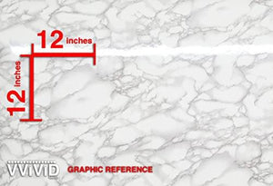 "VViViD XPO White Grey Marble Gloss Vinyl Film Contact Paper 15.9"" x 6.5ft Roll (1 roll) - zingydecor"