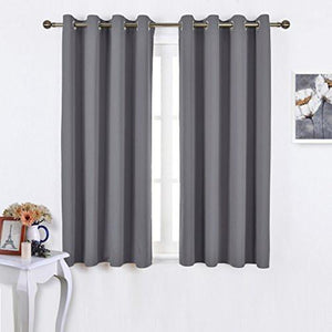 Nicetown Bedroom Blackout Curtains Panels - Window Treatment Thermal Insulated Solid Grommet Blackout for Living Room (Set of 2 Panels, 52 by 63 Inch) - zingydecor