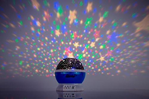 Ceiling stars for kids bedroom and star projector night light planetarium for baby, toddler, nursery and kids with bonus led lamp smart sensor - zingydecor