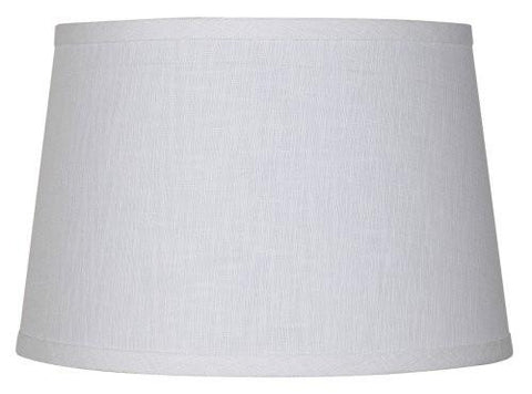 White Linen Drum Lamp Shade 10x12x8 (Spider)