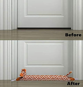 "36"" Giraffe Door Draft Stopper 2lb Christmas Doors Snake Draft Dodger Reduce Cord Air, Wind, Light Blocker - zingydecor"