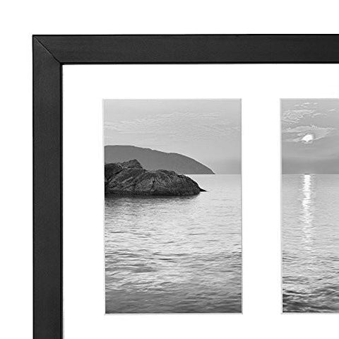 Image of Collage Picture Frame 4x6 - Displays Three 4x6 Inch Portrait Pictures - Photo Collage Frame Perfect for Family Photos