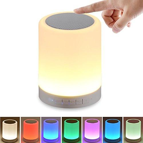 SHAVA Night Light with Bluetooth Speaker, Portable Wireless Bluetooth Speaker Touch Control Color... - zingydecor