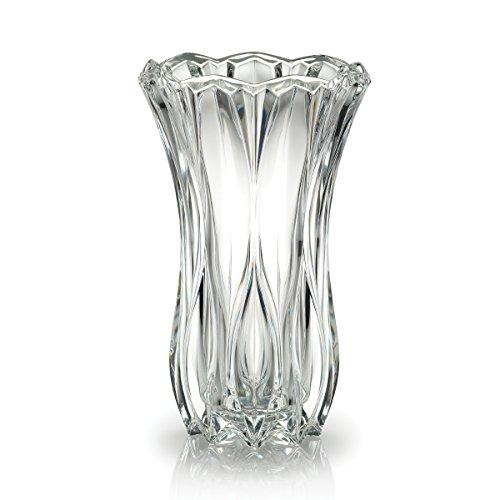 Celebrations by Mikasa Blossom Crystal Vase, 12-Inch - zingydecor