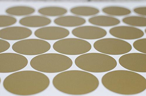 Gold Wall Decal Dots (200 Decals) | Easy to Peel Easy to Stick + Safe on Painted Walls | Removable...