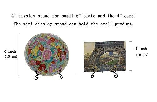 (2 pack)Iron Display Stand, Black Iron Easel Plate Display Photo Holder Stand, Displays Picture Frames, Cookbooks, Decorative Plates, Tablets and Art 4 Inch