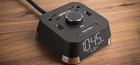 Image of CubieTime Alarm Clock Charger w/ 2 USB Ports and 2 Outlets Charging Station