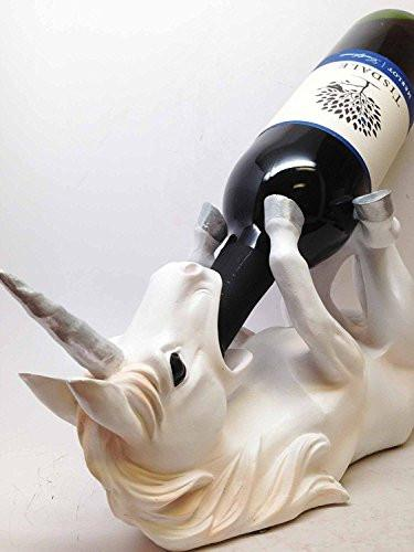 WINE OF SACRED PURITY UNICORN WINE HOLDER KITCHEN DECORATION SCULPTURE STATUE
