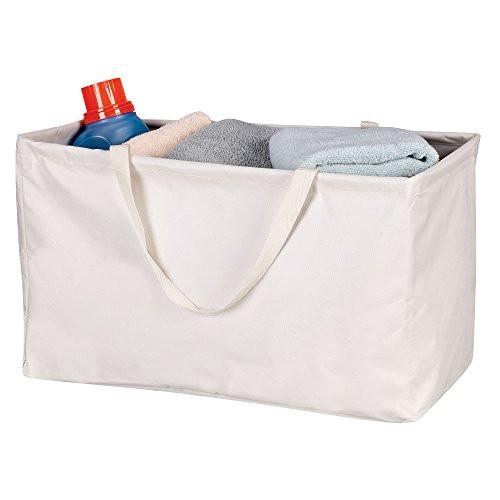 Household Essentials 2213 Krush Canvas Utility Tote - Reusable Grocery Shopping Bag - Laundry Carry Bag