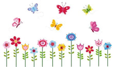 Load image into Gallery viewer, Bright Butterfly Garden Decorative Peel & Stick Wall Art Sticker Decals - zingydecor
