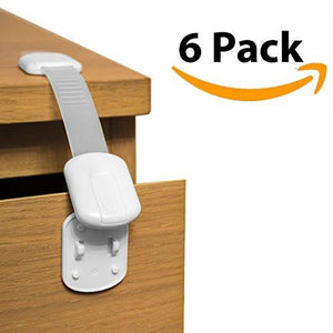 Ella's Safety Child Cabinet Locks 6 Pack Baby & Child Proof Drawers, Cabinets, Oven, Toilet Seat...