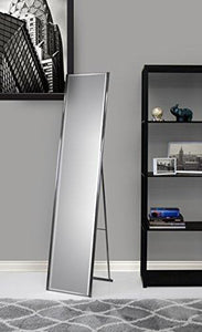 Adesso WK2444-22 Alice Floor Mirror – Powder Coated Champagne Full Length Mirror with Steel Finishing. Home Decor Accessories - zingydecor