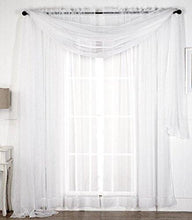Load image into Gallery viewer, Premium White Sheer Scarves - Sheer Curtains - White Luxurious - 54 by 216 Inches - by Utopia Bedding - zingydecor