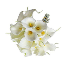 Load image into Gallery viewer, 1 X Calla Lily Bridal Wedding Bouquet 10 head Latex Real Touch Flower Bouquets KC51 White - zingydecor