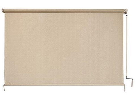 Coolaroo Outdoor Cordless Roller Shade 6ft x 6ft Sesame