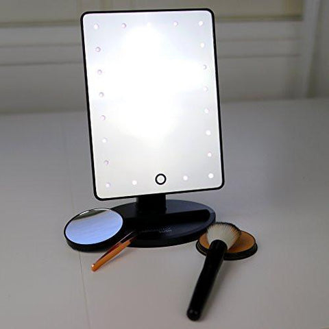 Image of Natural Daylight Lighted Makeup Mirror / Vanity Mirror with Touch Screen Dimming, Detachable 10X Magnification Spot Mirror, Portable Convenience and High Definition Clarity Cosmetic Mirror
