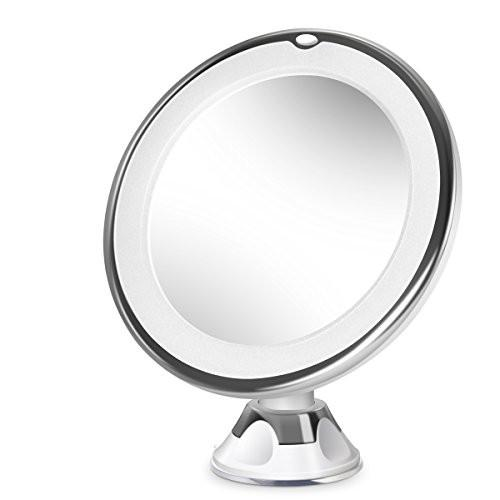 Beautural 10X Magnifying Lighted Vanity Makeup Mirror with Natural White LED, 360 Degree Swivel... - zingydecor