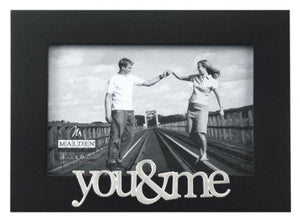 Malden International Designs Expressions You and Me Black Wood Picture Frame, 4x6, Black